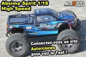 [Essai] Absima Spirit Monster Truck High Speed 1/16 4wd