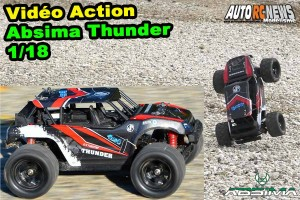 . [Video] Ca commence fort ! On essaie l'Absima Thunder 1/18 !