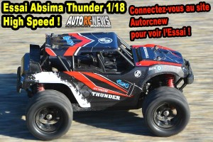 [Essai] Absima Thunder Monster Truck High Speed 1/18 4wd