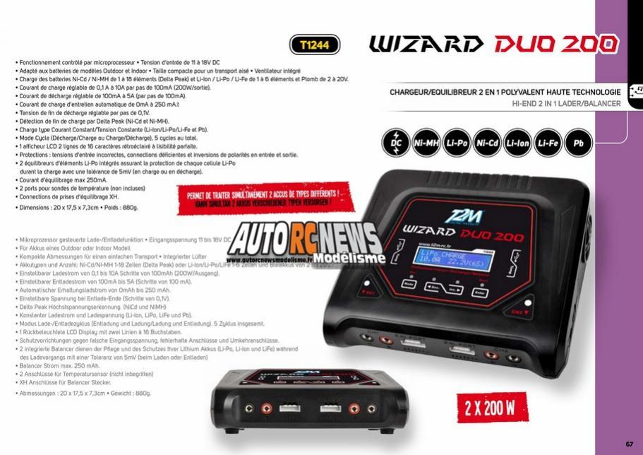 T2M Wizard Duo 200 AutoRCnewsModelisme