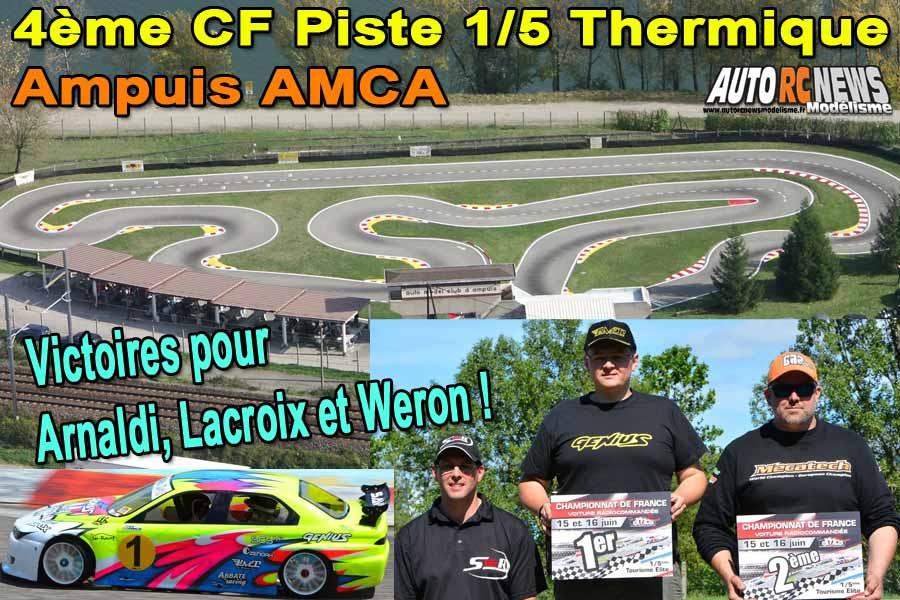 4ème cf piste 1/5 élite touring, formule france et f1 à ampuis club amca les 15 et 16 juin 2019