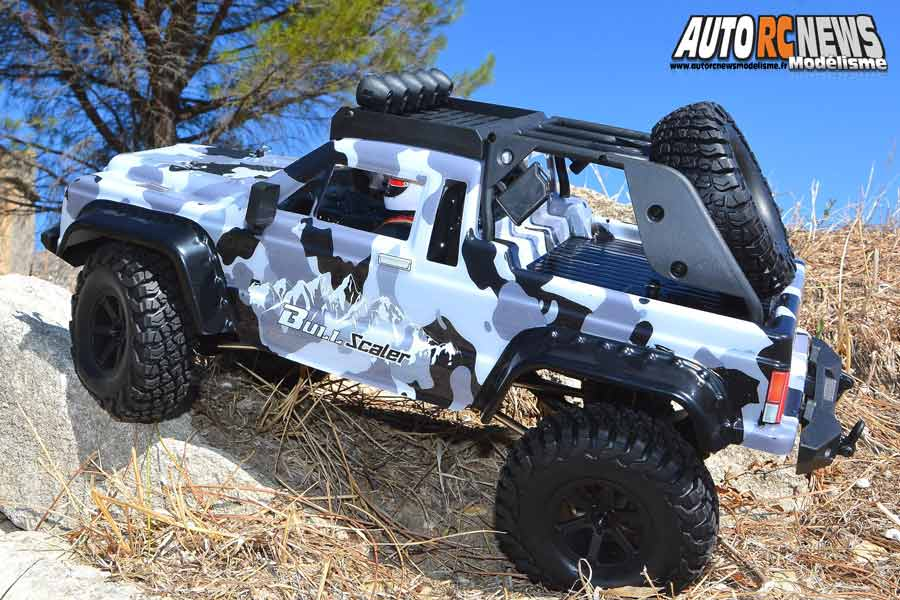 essai voiture blackbull bull scaler 1/10 brushed rtr 4wd réf : 94706pro by avio et tiger