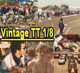 photos vintage tt 1/8 thermique des années 1980 et 1990.